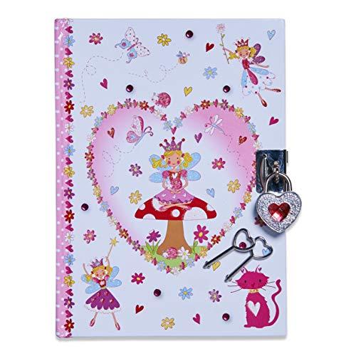 Lucy Locket Diario fatina magica (set scrittura, carta per lettere, diario segreto con lucchetto e chiavi) Diario per bimbi con fatina