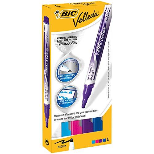 BIC Velleda evidenziatore 4 pezzo(i) Blu, Azzurro, Rosa, Porpora