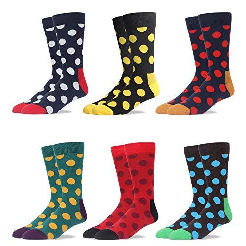 RioRiva In confezione regalo i calzini colorati per uomo in cotone 90%, simpatico motivo di design a metà polpaccio, stile colorato