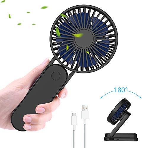 Pieghevole Mini Ventilatore Portatile, Ventilatore USB, Ventilatore da Tavolo, Ventilatore di Raffreddamento da Tavolo 3 Velocità Ventilatori USB Ricaricabili per Home Travel Outdoor Camping Office