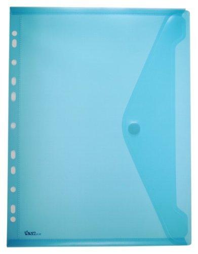 by EXXO HFP Dokumententasche Velcro e striscia di archiviazione A4 orizzontale, 10 pcs 310 x 235 millimetri Blu trasparente, 10 Pezzi