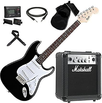 FENDER Squier Stratocaster SET chitarra elettrica + Amplificatore MARSHALL MG10 GOLD (Nuovo Modello)