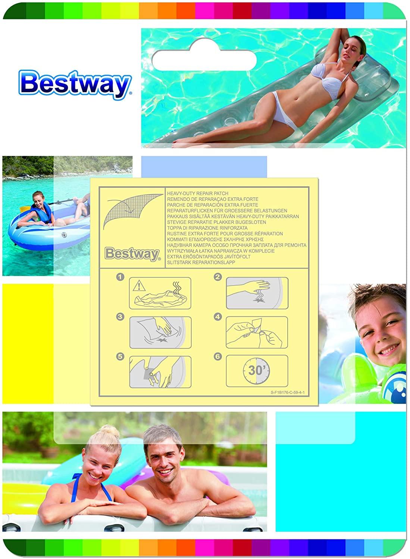 Bestway 62068 Toppa di Riparazione Strong, 10 Pezzi Inclusi