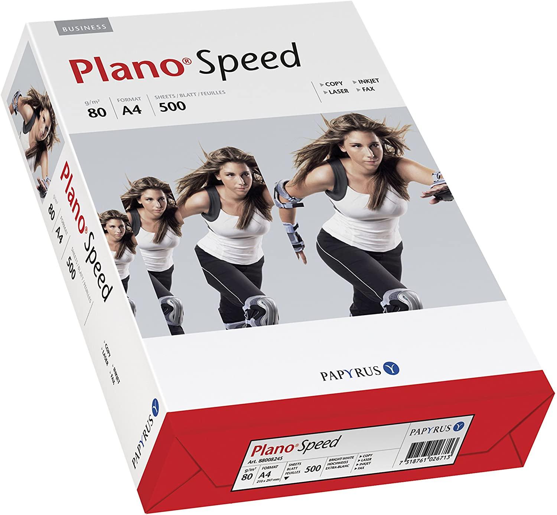 Papyrus PLANO®Speed - Risma di carta multiuso, DIN A4, 80 g/mq, 500 fogli, colore: Bianco