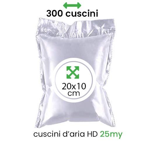 IMBALLAGGIPER 300 CUSCINI D' ARIA HD GONFIATI 25 MY 20X10 CM MATERIALE RIEMPITIVO STABILIZZANTE IMBALLAGGIO CUS01