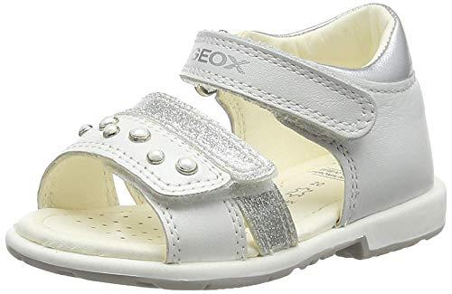 Geox B Verred a, Sandali Bambina, (White C1000), 27 EU