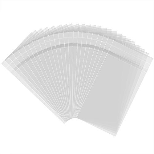 Outus 300 Pezzi 3 da 5 Pollici Sacchetti Plastica Sacchetti Trasparenti Adesivo per Prodotti da Forno, Caramelle, Sapone, Biscotto