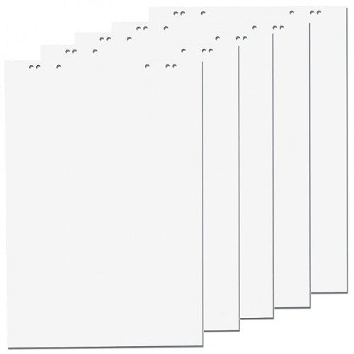 5 x Flipchartblöcke-blanc-bloc de 20 feuilles de papier à lettre de noël 69 x 99 cm, 6 perforations, papier pour chevalet de conférence