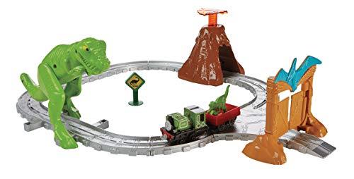 TRENINO THOMAS-Alla Scoperta del Dinosauro, Kit Pista Trenini per Bambini, Playset Adventures, Multicolore, FBC67