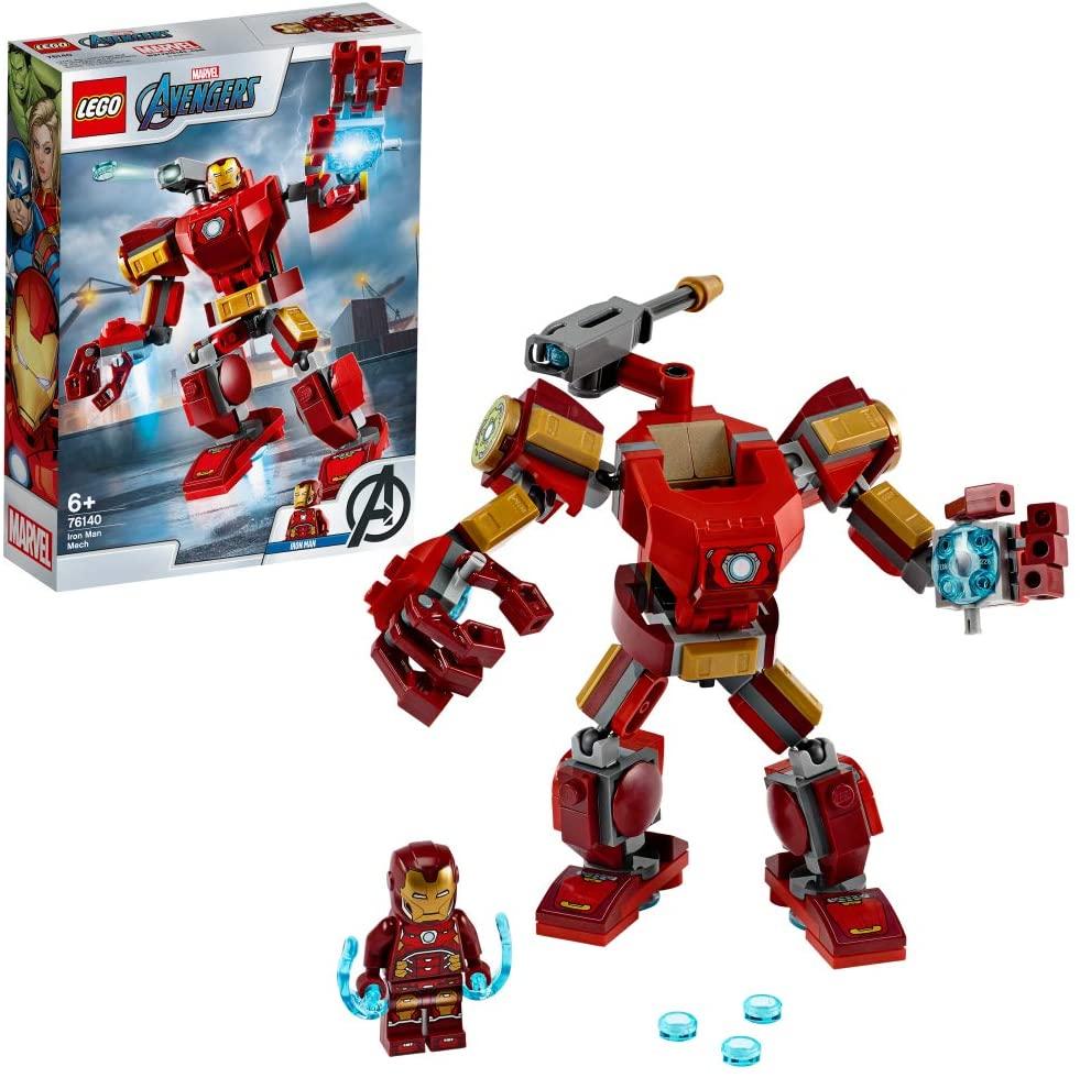 LEGO Super Heroes Avengers, Iron Man Mech, Set di Costruzioni Ricco di Dettagli per Bambini 6+ Anni, le Braccia e le Gambe Articolate Consentono una Mobilità a 360 Gradi, 76140