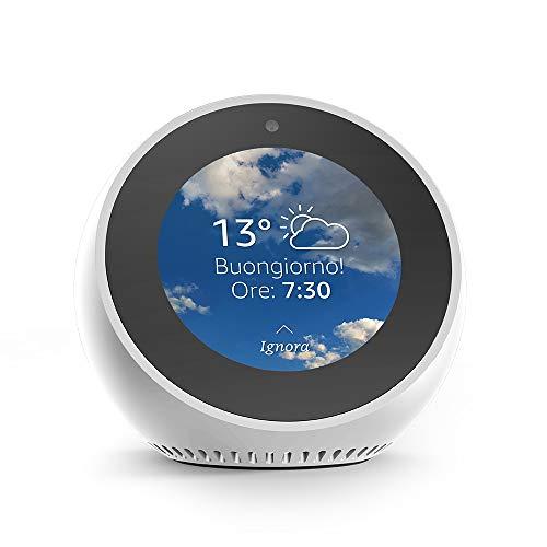 Amazon Echo Spot - Sveglia intelligente con Alexa - Bianco