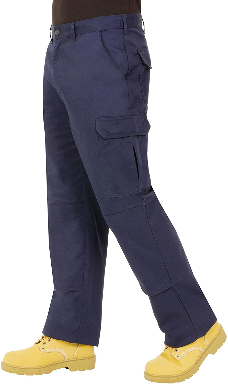 Proluxe - Pantaloni da lavoro da uomo, resistenti, modello cargo, con tasche imbottite sulle ginocchia e cuciture rinforzate, vari colori disponibili