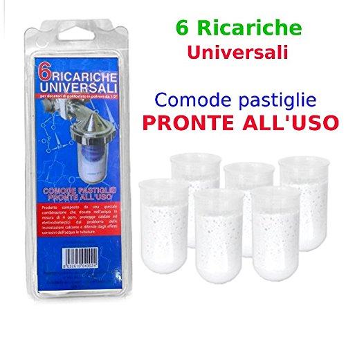 Ricariche polifosfati Universali 6X per dosatori di POLIFOSFATO in polvere da 1/2″