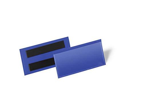 Durable 174307 Tasche con Bande Magnetiche, 113 x 53 mm (L x H), Confezione da 50 Pezzi, Blu
