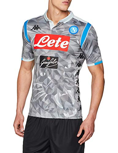 SSC Napoli Maglia Gara Third 2018/2019 Uomo, Grigio, M