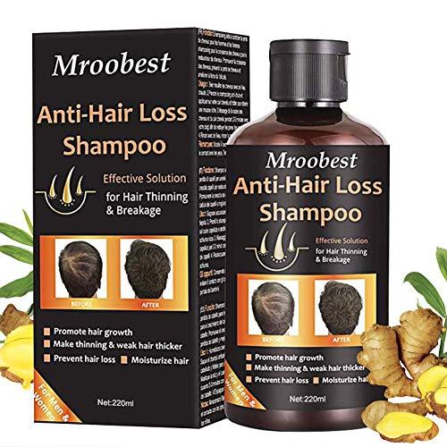 Shampoo Capelli, Shampoo Anti-Caduta, Hair Regrowth Shampoo, Anti-Hair Loss Shampoo, Aiuta a Prevenire la Perdita di Capelli Perdita Di Capelli Trattamento per Uomini e Donne-220ML