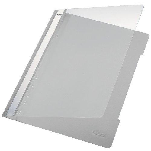 Leitz Cartellina standard, Formato A4, Capacità fino a 250 fogli (80 gr/mq), Polipropilene, Grigio, 41910185
