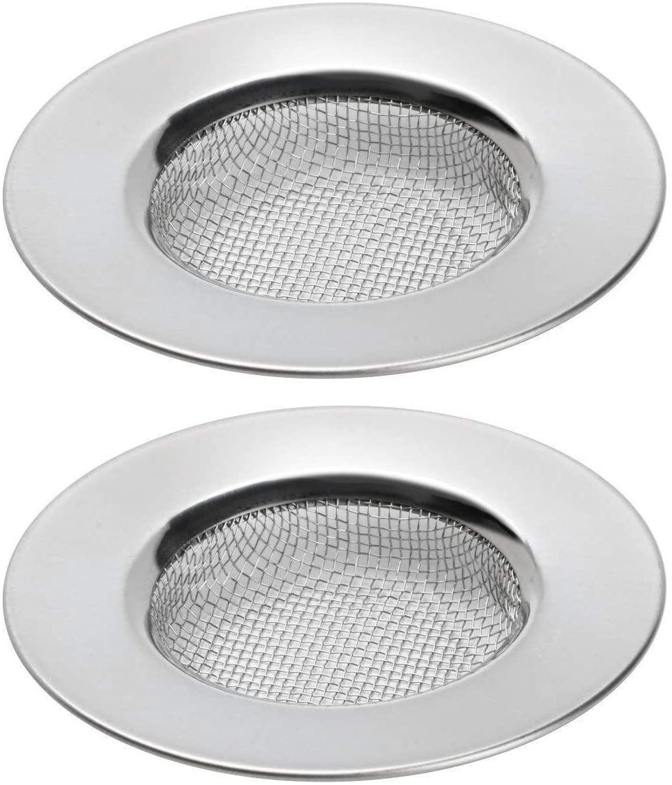 TRIXES Confezione da 2 filtri per lavello, doccia, tappo scarico trattiene capelli, vasca, lavelli in acciaio inox filtri di scarico. 3