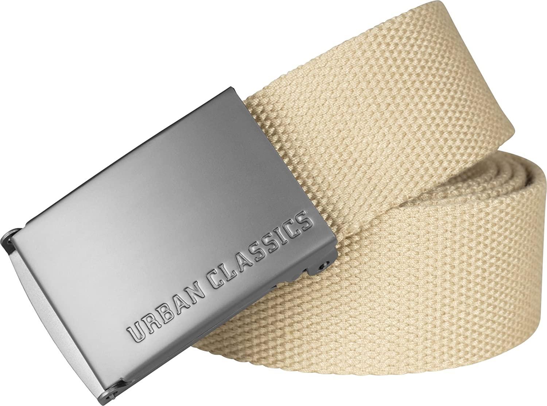 Urban Classics Canvas Belt Cintura con Fibbia Scorrevole in Metallo, Regolabile, 100% Poliestere, Diversi Colori Disponibili, Lunghezza 118 cm Unisex