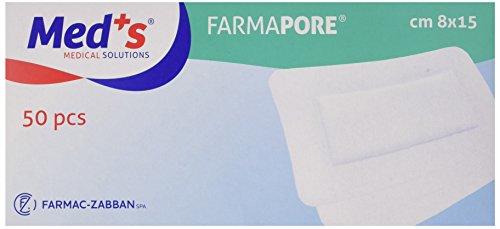 Farmac Zabban 1206310815M FarmaPORE Medicazione Adesiva in Cerotto 8 x 15 cm in TNT