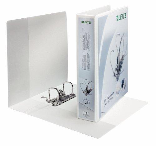 Leitz Raccoglitore personalizzabile con meccanismo a leva 180°, Per presentazioni, Formato A4 Maxi, Cartone rivestito in polipropilene, Dorso 5 cm, Bianco, 42260001