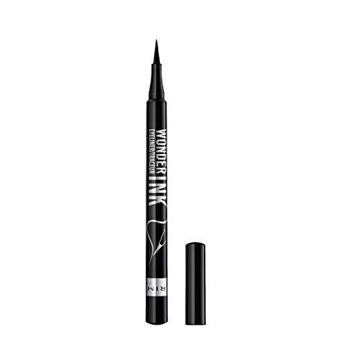 Rimmel London Eyeliner Waterproof Wonder'Ink, Penna con Punta in Feltro, Tratto Sottile e Preciso, Nero