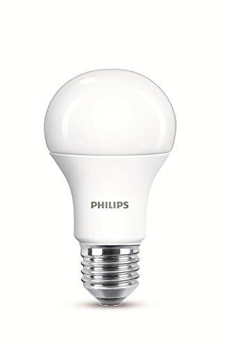 Philips Lampadine LED Goccia, Attacco E27, 11W Equivalenti a 75W, 2700K, 2 Pezzi