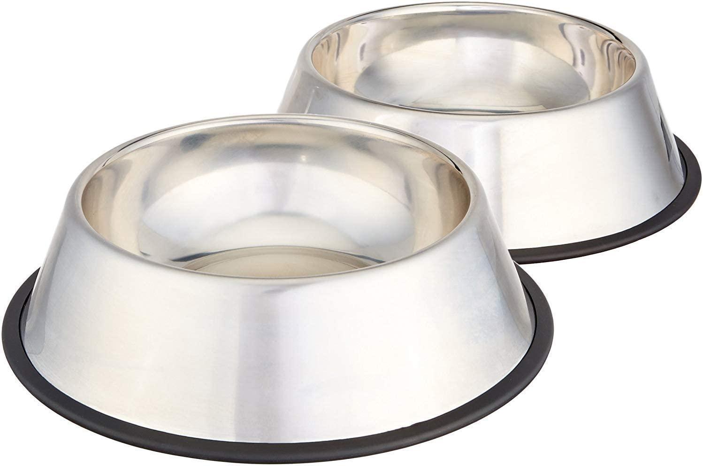 AmazonBasics - Ciotola per cani in acciaio INOX - Confezione da 2