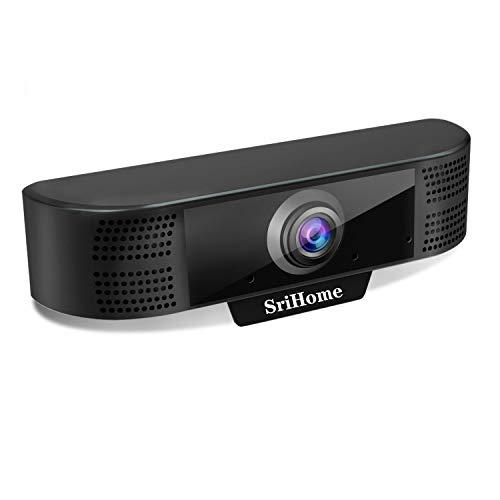 Webcam per PC USB 1080P, USB Webcam SriHome SH001, Webcam Full HD con Microfono per Videochiamate Videoconferenza, Compatibile con Skype, FaceTime, Hangouts, Windows 7/8/10/32-bit Vista, Plug and Play