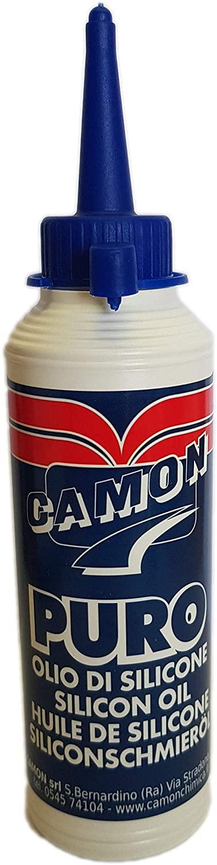 CAMON serie 400700 Olio di silicone con alto potere lubrificante, per proteggere dall'usura e dall'acqua parti in metallo, plastica o gomma 100 ml