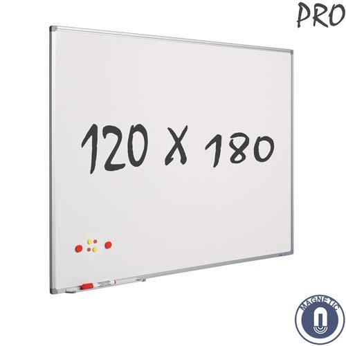 Smit Visual Whiteboard enamel Softline profile 120 x 180 cm 1200 x 1800mm lavagna