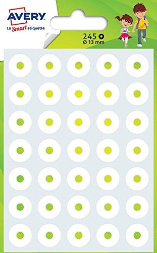Avery - Bustina di 245 salvabuchi rafforzanti, ø 13 mm, rif: OEIL245, colore: Bianco, 245 Pezzi