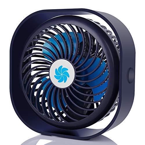 COMLIFE Ventilatore USB da Tavolo Potente e Silenzioso Mini Fan Personale 3 velocità Rotazione a 360 Gradi per Ufficio, Casa, Viaggio ECC.