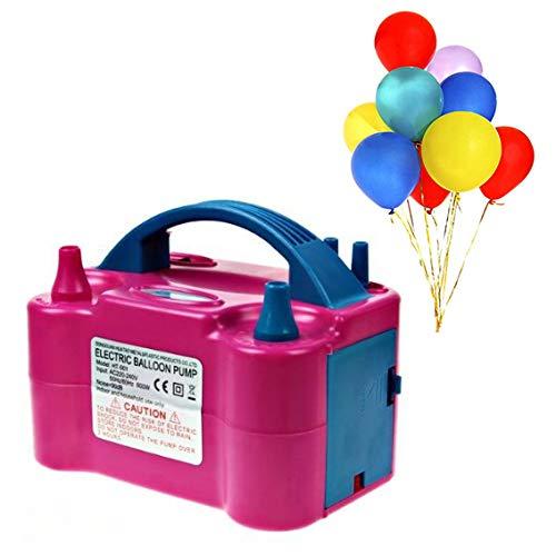 Jzhen Pompa Palloncino Elettrica,600w Gonfiatore Palloncino Doppio per Natale Party Bar Compleanno-Due Modalità di Funzionamento(Rosa)