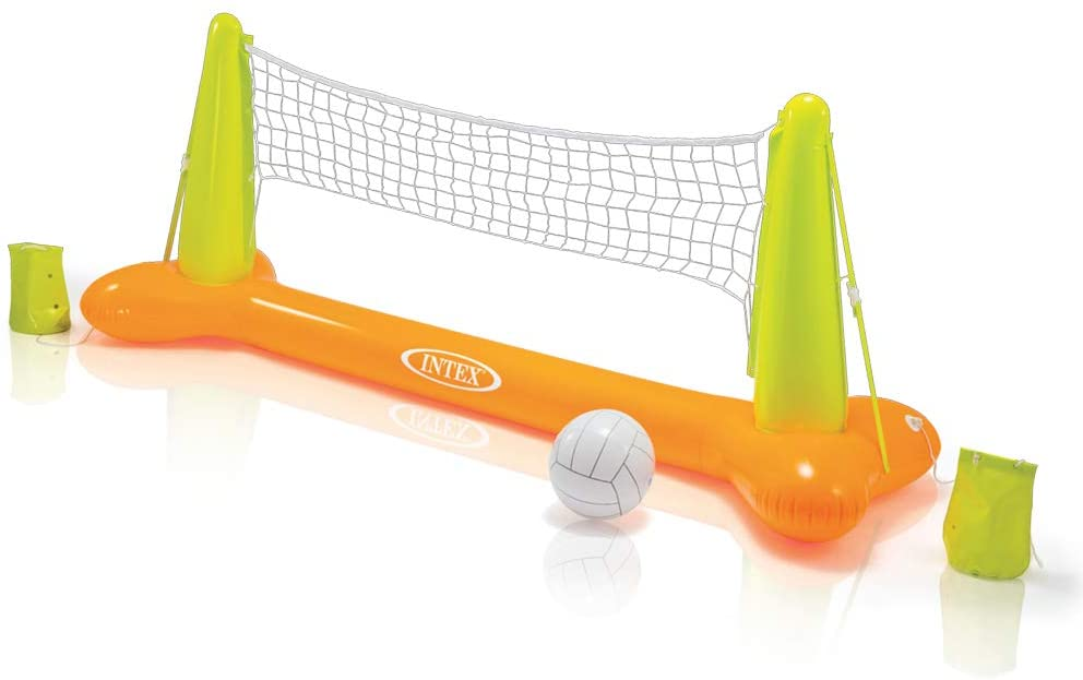 Intex-56508 Gioco Volley Galleggiante, Colore Giallo/Verde, 239 x 64 x 91 cm, 56508
