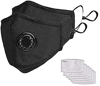 Maschera antipolvere per utenti con carbone attivo, filtro e valvola in cotone, adatto per corsa, ciclismo, scarico, allergia ai pollini.