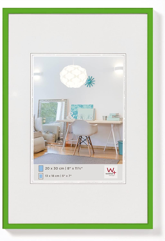 Walther New Lifestyle, Cornice in Plastica, Verde, 10 x 15 cm, plastica;vetro