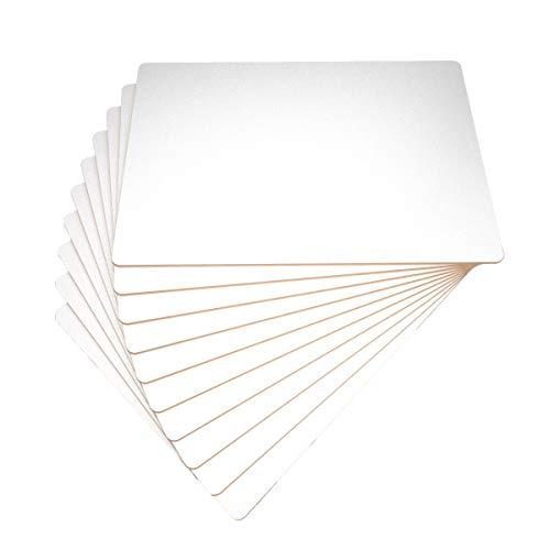 Confezione da 10 lapboard cancellabili a secco, rigide, formato A4, tinta unita