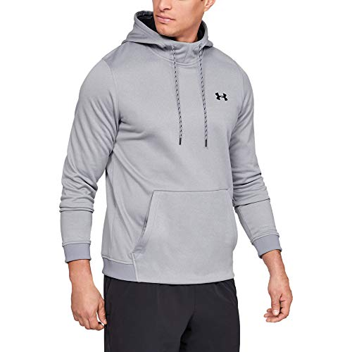 Under Armour Armour Fleece Po Hoodie Felpa, Uomo, Grigio, SM