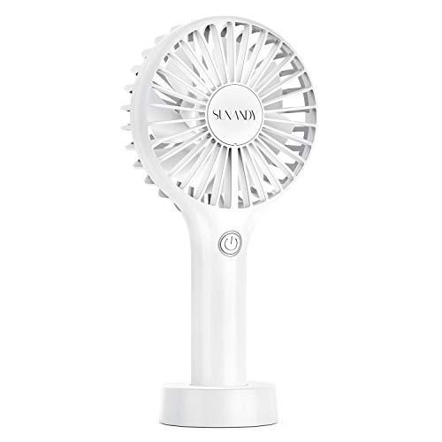 Sunandy Mini Ventilatore USB portabile con potente motore brushless a 3 velocità Fan ricaricabile con USB selenzioso 30db