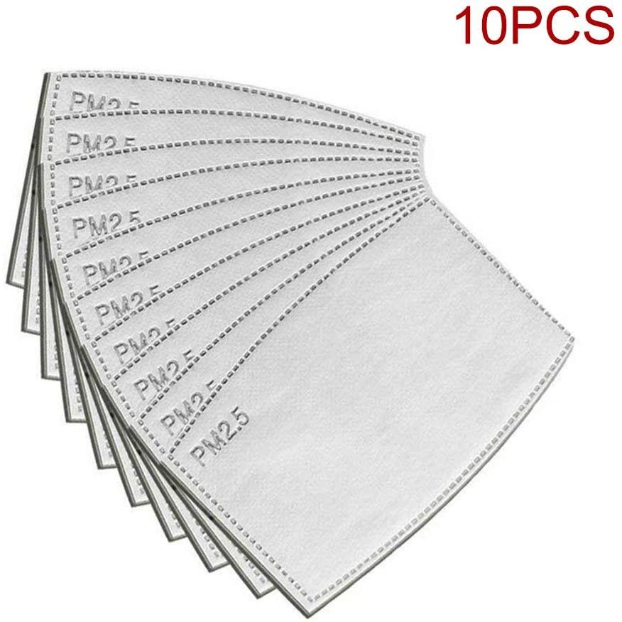 Samseed 10 PCS filtri a Carbone Attivo PM2,5, 5 Strati sostituibili Anti-Appannamento, Filtro Protettivo per Bocca per Esterni