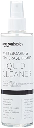 Amazon Basics Dry Erase Liquid Cleaner for Whiteboards - 8-Ounce, 1-Pack