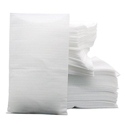 200 Pezzi 0,5T EPE Antiurto Flessibile Packaging Schiuma Cuscino Avvolge, Sacchetti Fogli di Schiuma, per Articoli Da Tavola in Porcellana da Tavola in Vetro, 15X20cm