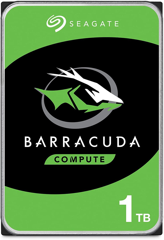 Seagate BarraCuda 1 TB, HDD interno - 3.5 pollici SATA 6 Gbit/s 7200 rpm, 64 MB di cache, per schermo PC, ST1000DM010
