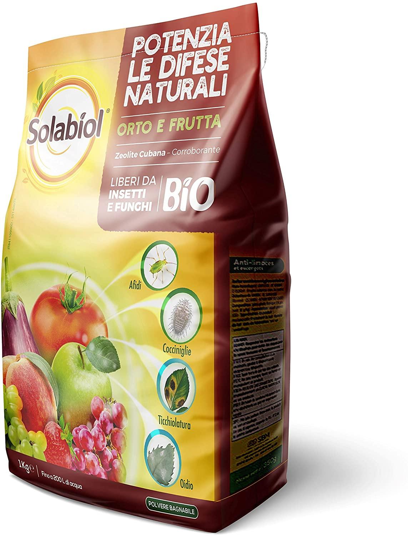 Solabiol Zeolite Polvere di Roccia, 1kg Potenziatore delle difese delle Piante, Bianco