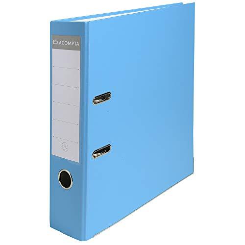 Exacompta 918412B Raccoglitori a Leva, 32x29 cm, Blu Chiaro
