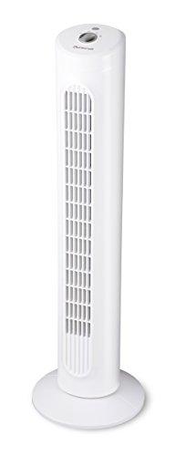 Duracraft DO1100E Ventilatore a Torre, Oscillante, Bianco