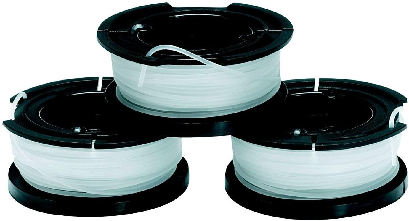 BLACK+DECKER A6485-XJ Set 3 Rocchetti Filo Nylon Reflex, 3 x 10m, 1.5mm