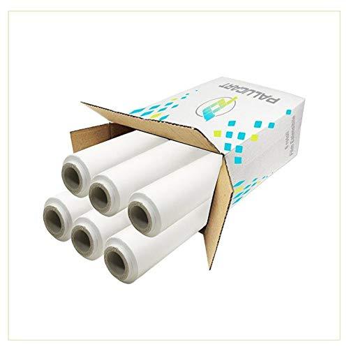Palucart pellicola film estensibile bianco 6 rotolo da 2,4 kg altezza 50 cm 23 mycron