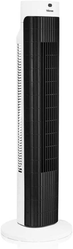 Tristar VE-5999 Ventilatore a Torre con Telecomando/Timer, 45 W, 614 Decibel, Plastica, 3 velocità, Bianco/Nero